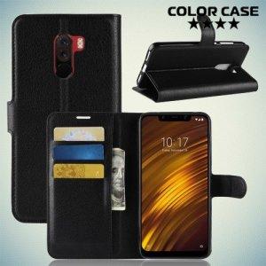 Чехол книжка для Xiaomi Pocophone F1 - Черный