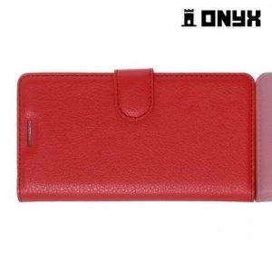 Чехол книжка для Xiaomi Redmi 3 - Красный