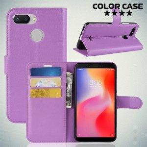 Чехол книжка для Xiaomi Redmi 6 - Фиолетовый
