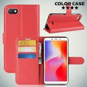 Чехол книжка для Xiaomi Redmi 6a - Красный