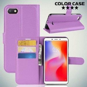 Чехол книжка для Xiaomi Redmi 6a - Фиолетовый