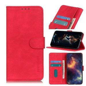 Чехол книжка для Xiaomi Redmi 9A с магнитом и отделением для карты - Красный