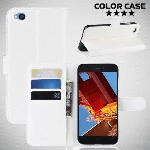 Чехол книжка для Xiaomi Redmi Go - Белый