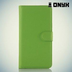 Чехол книжка для Xiaomi Redmi Note 3 - Зеленый