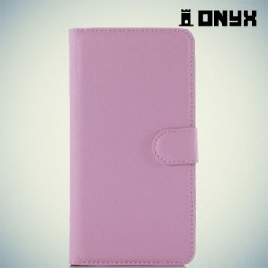 Чехол книжка для Xiaomi Redmi Note 3 - Розовый