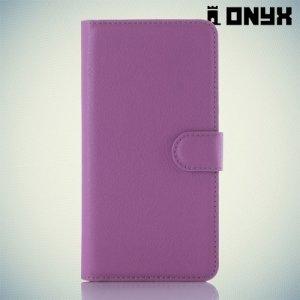 Чехол книжка для Xiaomi Redmi Note 3 - Фиолетовый
