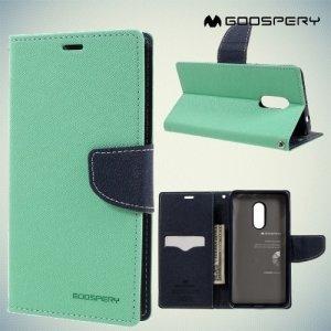 Чехол книжка для Xiaomi Redmi Note 4 Mercury Goospery - Бирюзовый
