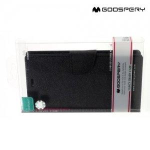 Чехол книжка для Xiaomi Redmi Note 4 / Note 4X Mercury Goospery - Черный