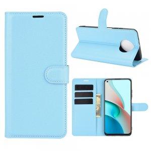 Чехол книжка для Xiaomi Redmi Note 9T отделения для карт и подставка Синий