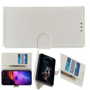 Чехол книжка кошелек с отделениями для карт и подставкой для Huawei Honor View 30 - Белый