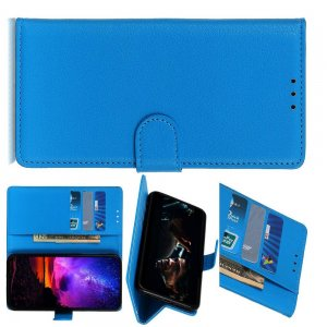 Чехол книжка кошелек с отделениями для карт и подставкой для Huawei Honor View 30 - Синий