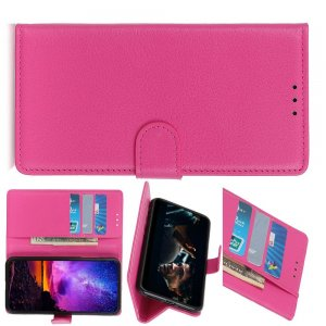 Чехол книжка кошелек с отделениями для карт и подставкой для Huawei Honor View 30 - Светло-Розовый