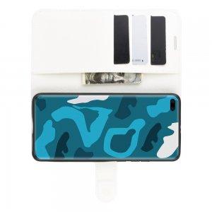 Чехол книжка кошелек с отделениями для карт и подставкой для Huawei P40 Pro - Белый