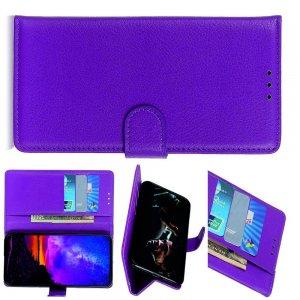 Чехол книжка кошелек с отделениями для карт и подставкой для LG G8X ThinQ - Фиолетовый