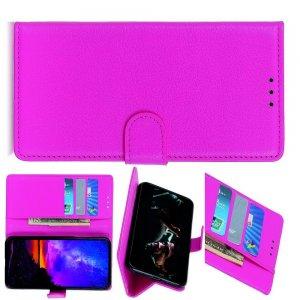 Чехол книжка кошелек с отделениями для карт и подставкой для LG G8X ThinQ - Светло-Розовый