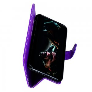 Чехол книжка кошелек с отделениями для карт и подставкой для Samsung Galaxy A70s - Фиолетовый
