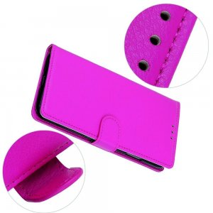 Чехол книжка кошелек с отделениями для карт и подставкой для Samsung Galaxy A70s - Светло-Розовый