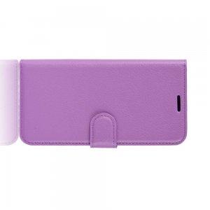 Чехол книжка кошелек с отделениями для карт и подставкой для Samsung Galaxy Note 10 Lite - Фиолетовый
