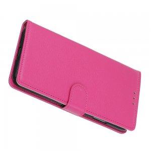Чехол книжка кошелек с отделениями для карт и подставкой для Samsung Galaxy S20 Ultra - Светло-Розовый