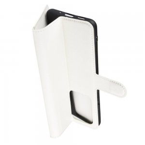 Чехол книжка кошелек с отделениями для карт и подставкой для Samsung Galaxy S20 Ultra - Белый