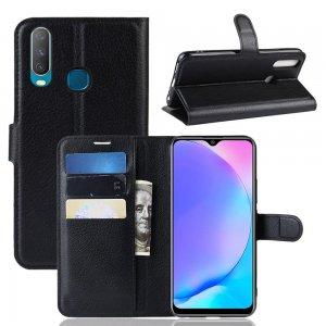 Чехол книжка кошелек с отделениями для карт и подставкой для Vivo Y17 / Y15 / Y12 - Черный
