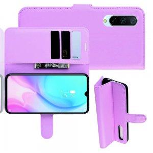 Чехол книжка кошелек с отделениями для карт и подставкой для Xiaomi Mi 9 lite - Розовый
