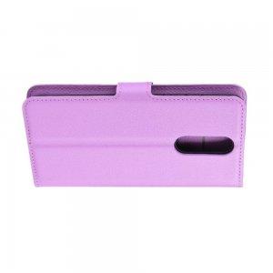 Чехол книжка кошелек с отделениями для карт и подставкой для Xiaomi Redmi 8 - Фиолетовый
