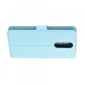 Чехол книжка кошелек с отделениями для карт и подставкой для Xiaomi Redmi 8 - Синий