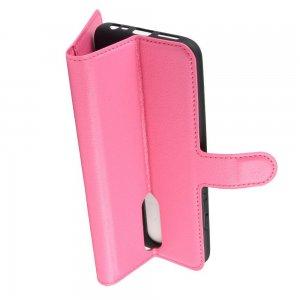 Чехол книжка кошелек с отделениями для карт и подставкой для Xiaomi Redmi 8 - Светло-Розовый
