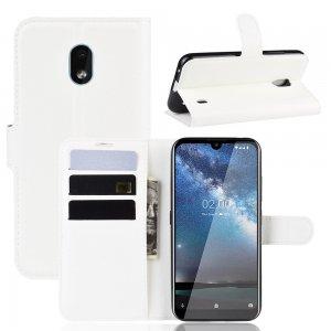 Чехол книжка кошелек с отделениями для карт и подставкой для Xiaomi Redmi 8A - Белый