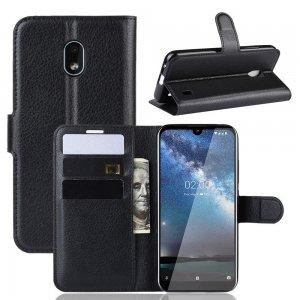Чехол книжка кошелек с отделениями для карт и подставкой для Xiaomi Redmi 8A - Черный