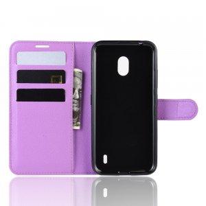 Чехол книжка кошелек с отделениями для карт и подставкой для Xiaomi Redmi 8A - Фиолетовый