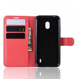 Чехол книжка кошелек с отделениями для карт и подставкой для Xiaomi Redmi 8A - Красный