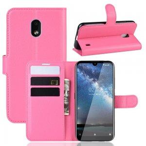 Чехол книжка кошелек с отделениями для карт и подставкой для Xiaomi Redmi 8A - Розовый