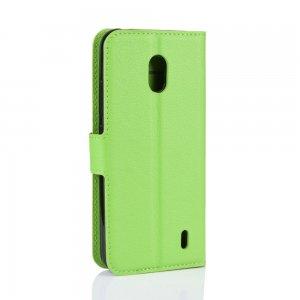 Чехол книжка кошелек с отделениями для карт и подставкой для Xiaomi Redmi 8A - Зеленый