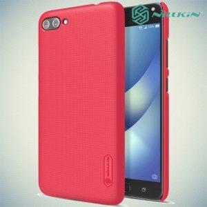 Чехол накладка Nillkin Super Frosted Shield для ASUS ZenFone 4 Max ZC554KL - Красный