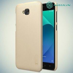 Чехол накладка Nillkin Super Frosted Shield для Asus Zenfone 4 Selfie ZD553KL / Live ZB553KL - Золотой