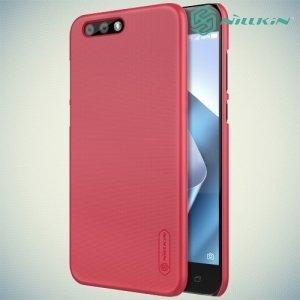 Чехол накладка Nillkin Super Frosted Shield для Asus ZenFone 4 ZE554KL - Красный