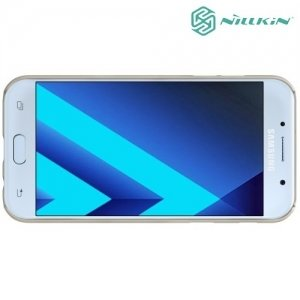 Чехол накладка Nillkin Super Frosted Shield для Galaxy A5 2017 SM-A520F - Золотой