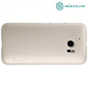 Чехол накладка Nillkin Super Frosted Shield для HTC 10 / 10 Lifestyle - Золотой