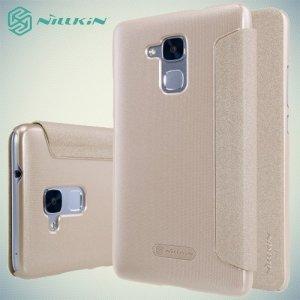 Nillkin ультра тонкий чехол книжка для Huawei Honor 5C - Sparkle Case Золотой