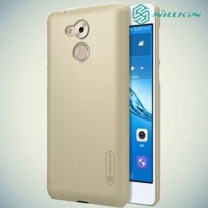 Чехол накладка Nillkin Super Frosted Shield для Huawei Honor 6C - Золотой