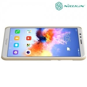 Чехол накладка Nillkin Super Frosted Shield для Huawei Honor 7X - Золотой