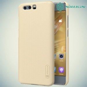 Чехол накладка Nillkin Super Frosted Shield для Huawei Honor 9 - Золотой
