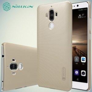 Чехол накладка Nillkin Super Frosted Shield для Huawei Mate 9 - Золотой