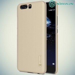 Чехол накладка Nillkin Super Frosted Shield для Huawei P10 - Золотой