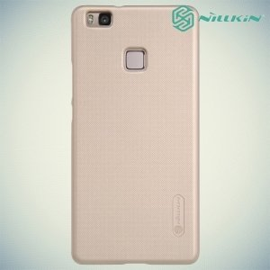 Чехол накладка Nillkin Super Frosted Shield для Huawei P9 lite - Золотой