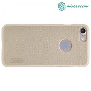 Чехол накладка Nillkin Super Frosted Shield для iPhone 8/7 - Золотой
