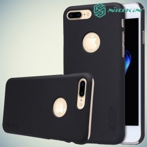 Чехол накладка Nillkin Super Frosted Shield для iPhone 8 Plus / 7 Plus - Черный