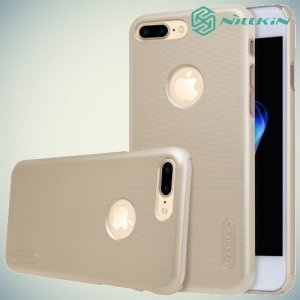 Чехол накладка Nillkin Super Frosted Shield для iPhone 8 Plus / 7 Plus - Золотой